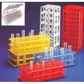 Stativ pentru eprubete din plastic cu 24 locuri