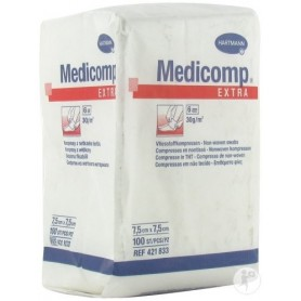 Comprese nesterile MEDICOMP Extra 6 straturi, 10x10 cm,