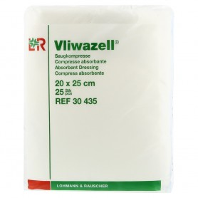 Comprese absorb. nesterile Vliwazell 20x25 cm, 25 buc/pac