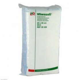 Comprese absorb. nesterile Vliwazell 20x40 cm, 25 buc/pac