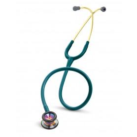 Stetoscop Littmann  Classic II Pediatric albastru caribian, cap curcubeu, ecliva auriu