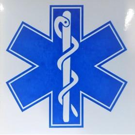 Abtibild cruce albastra 10 cm x 10 cm aplicare interna