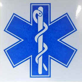 Abtibild cruce albastra 10x10 cm aplicare interna