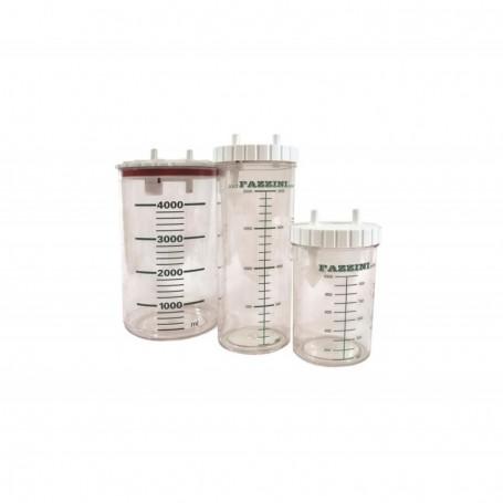 Borcan din plastic autoclavabil de 2 L pentru aspirator medical