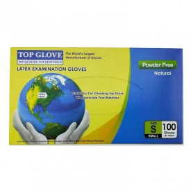 Manusi examinare latex nepudrate Top Glove cutie 100 buc marimea S