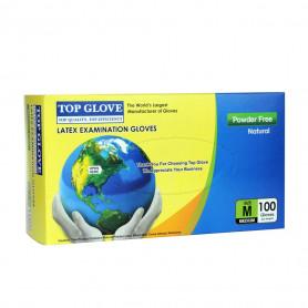 Manusi examinare latex nepudrate Top Glove cutie 100 buc marimea M