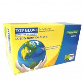 Manusi examinare latex nepudrate Top Glove cutie 100 buc marimea L