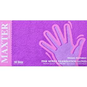 Manusi nitril nepudrate pink Maxter XS