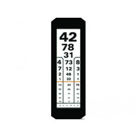 Placa plexi simpla 1 coloana tip numere pentru optotip cu iluminare 3 m