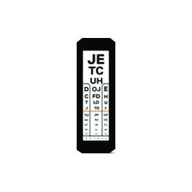Placa plexi simpla 1 coloana tip litere pentru optotip cu iluminare 3 m