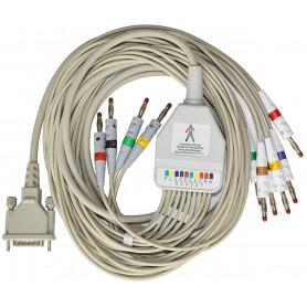 Cablu pacient Schiller, Esaote, Kontron, Edan, F6725R