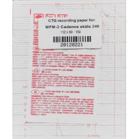Hartie Monitor Fetal Edan Cadence 112 mm x 90 mm x 150 pagini, rosu