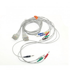 Cablu pacient EKG 10 fire compatibil Mortara ELI, conector banana 4 mm, CKB030IB